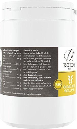 Ölmühle Solling Kokosöl nativ im PE-Becher, 1er Pack (1 x 1 l) – Bio - 4