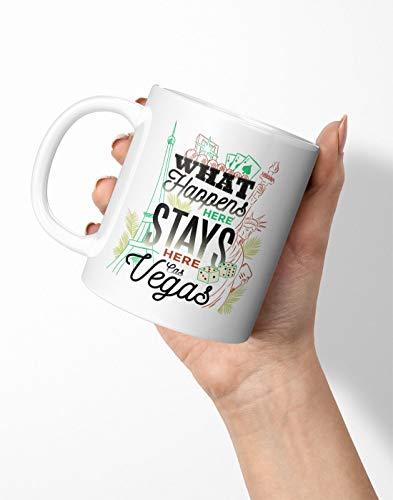 BLAK TEE What Happens in Vegas Porcelain Coffee And Tea Mug 330 ml