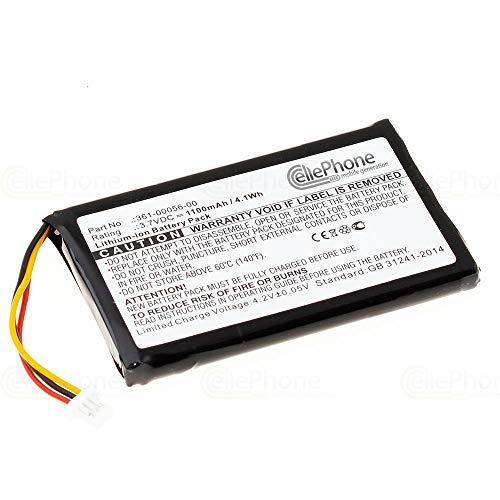 cellePhone Akku Li-Ion kompatibel mit Garmin Nüvi 30 50 50LM 55LM 55LMT - Drive 51 LMT-S - DriveSmart 50 61 LMT-D (Ersatz für 361-00056-00)