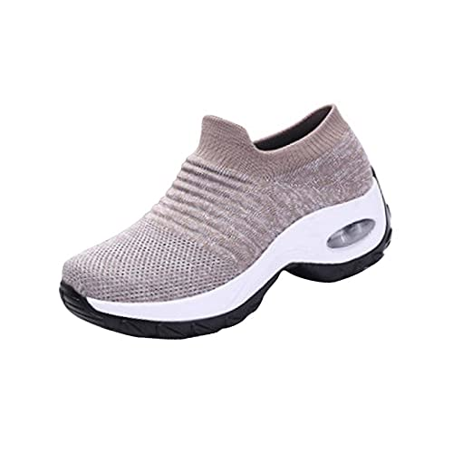 N\C Calzado Deportivo para Mujer Tallas Grandes Moda de Verano Calzado para Correr para Mujer Calzado Morado para Mujer Calzado de Tenis para Correr Malla Calzado Deportivo Informal Transpirable