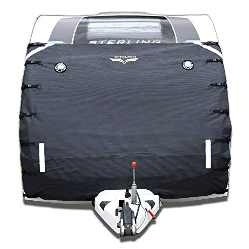 Defender Caravan Universal Front Towing Cover Protector Covers Accessories Dark Grey
