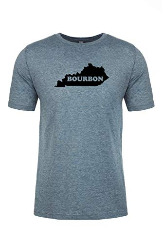 Kentucky Bourbon, Graphic Men's Tee, Funny T Shirt, Shirts with Sayings, Heather Gray or Indigo
