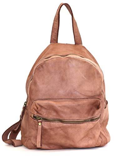 BZNA Bag Ben alt rosa Backpacker Designer Rucksack Damenhandtasche Schultertasche Leder Nappa ItalyNeu