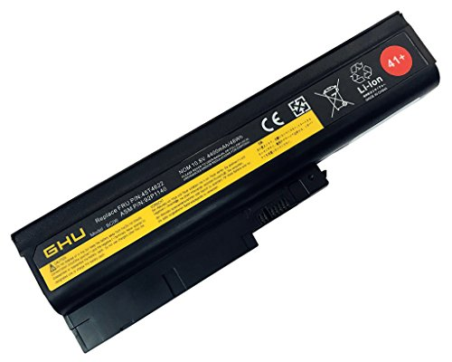 New GHU Battery 48 Wh Replacement 40Y6799 40Y6797 92P1141 Compatible with Lenovo ThinkPad T60 T500 W500 R500 R60 92P1133 42T4511 42T4504 T500 42T4619 42T4620 40Y6795 R500 SL300 SL400 SL500