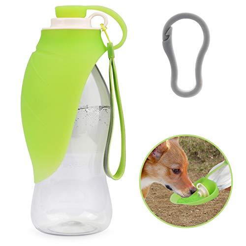 Idepet Botella de Agua para Perros, Botella de Agua Comida para Perros al Aire Libre dispensador de Bebidas portátil para Mascotas con Cuenco de Silicona Botella de Agua de Viaje