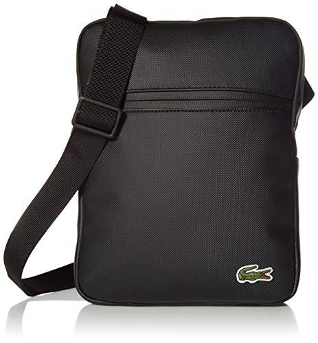 Lacoste Mens PVC Medium Crossover Bag, Noir