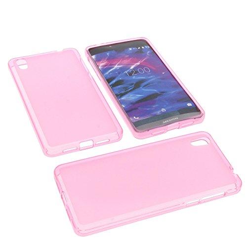 foto-kontor Tasche für MEDION Life X5004 Gummi TPU Schutz Hülle Handytasche pink