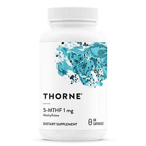 Thorne Research - Vitamina B9-5-MTHF 1 mg de folato - Suplemento activo de folato de Vitamina B9-60 Cápsulas