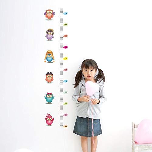 Décor à la Maison Hibou Enfants Hauteur Tableau Wall Sticker Décor À La Maison Dessin Animé Animal Hauteur Règle Stickers Muraux Chambre Décor