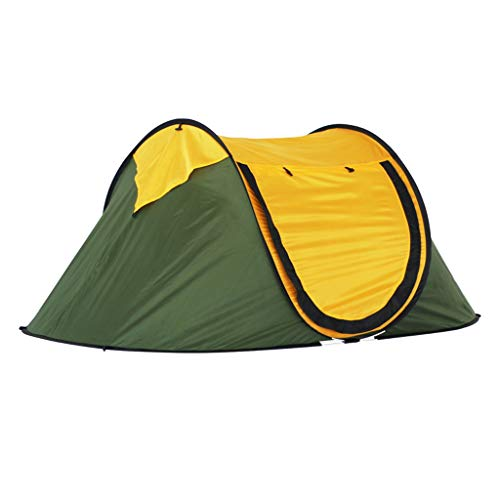 LMJ Automática Pop-up Tienda de campaña for 2 Personas con 2 Malla de Windows Carpa instantánea for al Aire Libre Senderismo con Mochila (Color : Green)