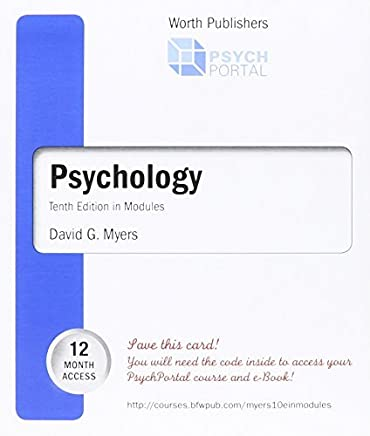 Psychology Tenth in Modules ACCESS CODE (Cleveland State Community College) by David G. Myers (2013-08-02)