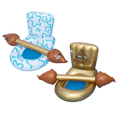 Delisouls Juguetes inflables de la fila flotante,Piscina flota inflable par de parachoques flotante,Inodoro inflable fila flotante agua adulto silla flotante juguete piscina