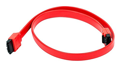 10 Pack, 18 inch SATA 6Gbps Cable w/Locking Latch Red, CNE533049