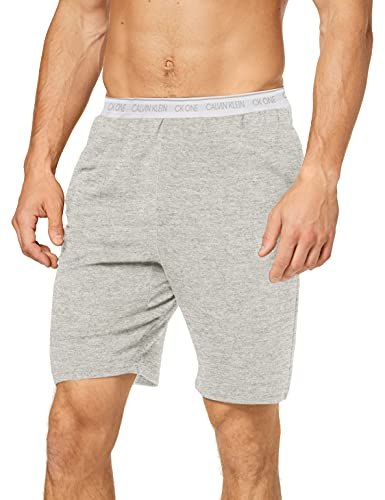 Calvin Klein Sleep Short Pantalones de Pijama, Gris (Grey Heather 080), M para Hombre
