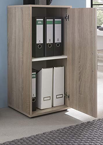 Preisvergleich Produktbild Aktenschrank Büroschrank DIN-A4-Ordner Büroregal Sonoma Eiche - (3889)