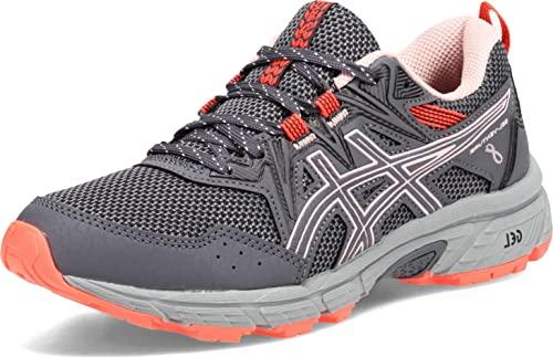 ASICS Women's Gel-Venture 8 Running Shoes, 8.5, Carrier Grey/Ginger Peach