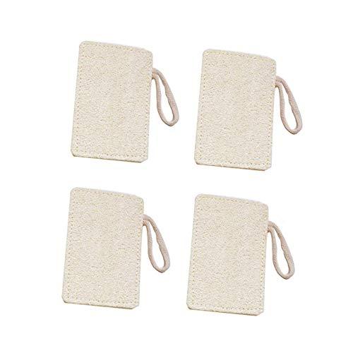 Mirrwin Naturel Éponge de Loofah vaisselle Luffa Eponge Vaisselle éponge Éponge de Loofah Laveur de Vaisselle Tissu éponge Luffa Naturelle Naturel Luffa pour le Nettoyage de la Cuisine Blanc