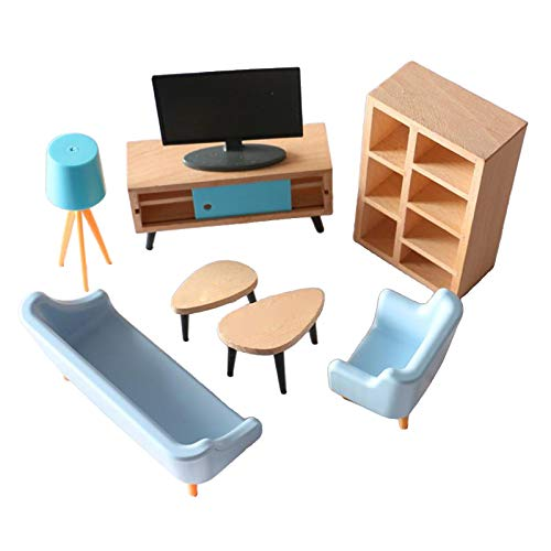 F Fityle Casa de muñecas de Madera Muebles de Sala de Estar en Miniatura gabinete de TV 1/12 Escena de la Vida casa decoración de Juego de simulación niños