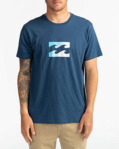 NA PALI SAS, Hossegor - BILLABONG Herren T-Shirt Team Wave - T-Shirt Für Männer, Denim Blue, S, U1SS51