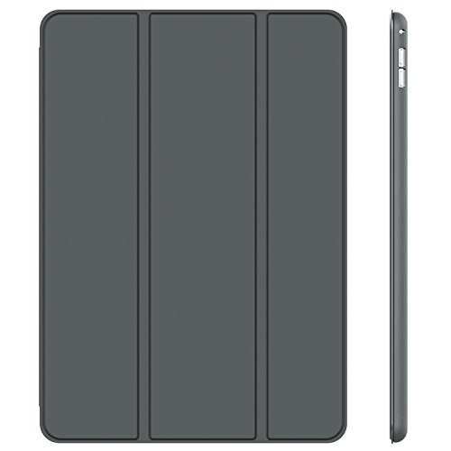 JETech Case for iPad Pro 12.9 Inch (1st and 2nd Generation, 2015 and 2017 Model), Auto Wake/Sleep (Dark Grey)