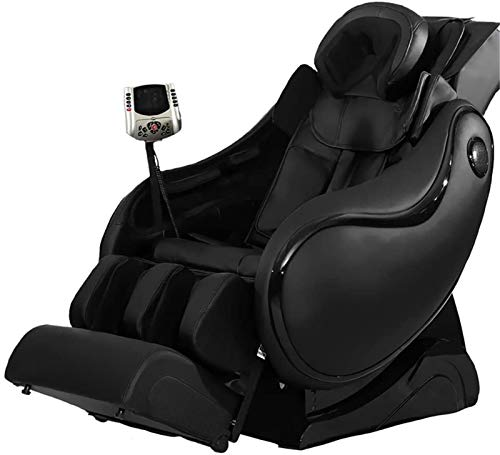 ZAMAX Silla de masaje, silla de masaje, totalmente automática, multifuncional cápsula, cuerpo entero, sofá de masaje, silla de masaje antigua, multifunción, masaje inteligente (color negro)