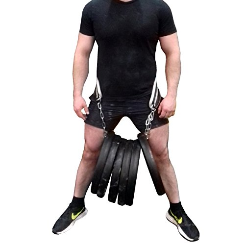 YAYB Power Dipping Belt-Comprises an inner strength core-Extremely Heavy Duty 120kg +Usage-With extra long chain and carabiner-Extra Large Padded Back Pad-Pull ups-Bodybuilding-Powerlifting