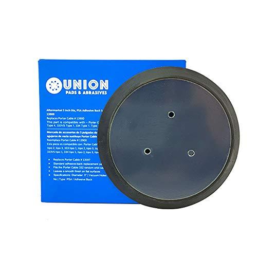 5 inch Diameter PSA Adhesive Back Sander Pad with No Vacuum Holes for 332, 333, 333VS Random Orbit Sander Replaces Porter Cable 13900, RSP31