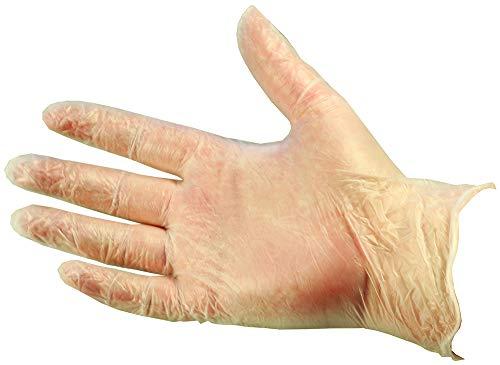 Paperline - Caja de 100 guantes desechables (tamaño pequeño), color transparente