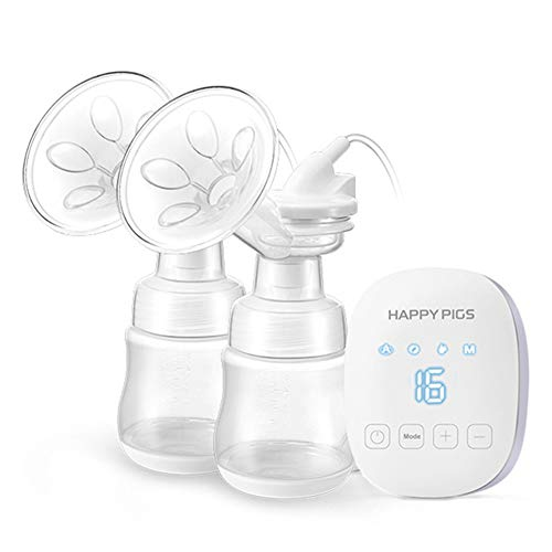 Fantastic Deal! ACC Double Suction Electric Breast Pump, USB Baby Bottle Feeding Tool with Led Touch...