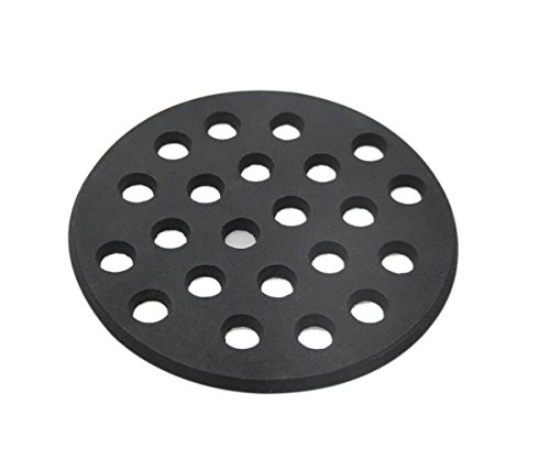 Dracarys Round cast Iron Bottom fire Grate for Big Green Egg, BBQ high Heat Charcoal Plate fit for Medium Big Green Egg fire Grate Grill Charcoal Replacement Parts Green Egg Accessories-6.5inch MFGC