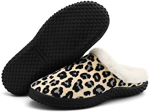 Hsyooes Zapatillas de Estar por casa para Mujer Hombres Antideslizante Interior Casa Caliente Slippers Pareja Zapatos Calzado