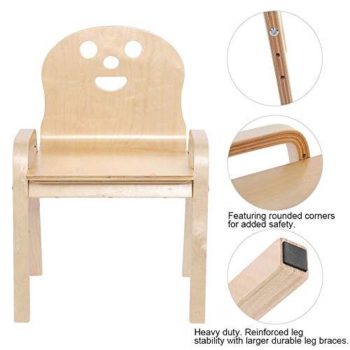 NYDZDM houten kinderstoel voor kinderen, schept het leren van de stoelzitting, kleine kuip, grote geschenken