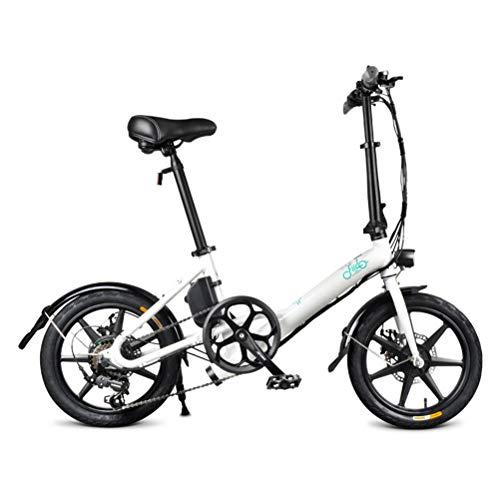 OD-B Bicicleta Eléctrica Plegable, Aluminio 36V 7.8AH Batería De Litio 250W Motor...