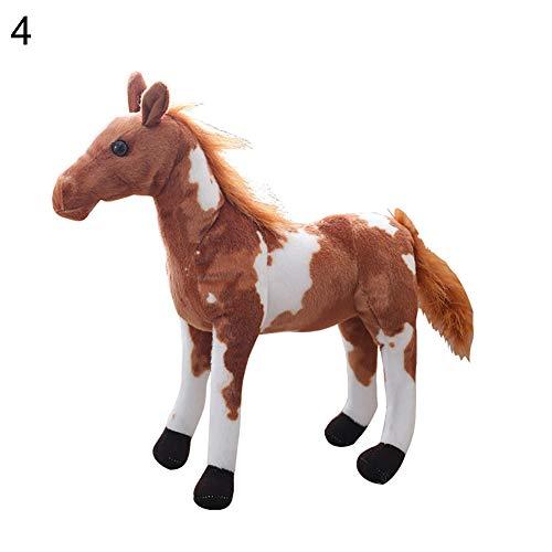 NAttnJf - Peluche de Caballo con diseño de Animal en 3D, para niños, Sala de Juguetes, decoración de Fotos, 3#, 30 cm