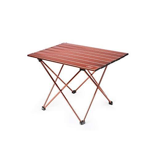 MotBach Mesas y sillas Plegables Tabla portátil de luz Camping al Aire Libre Mesa Plegable Simple Tamaño pequeño fácil de Transportar Mesa Plegable de Escritorio de Aluminio Cepillado