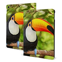 """かわいい 鳥 オニオオハシ 枝 iPad IPad 7th 10.2"""" ケース TPU ソフトカバー二つ折りスタンド 耐衝撃カバー オートウェイクアップ/スリープ機能"""