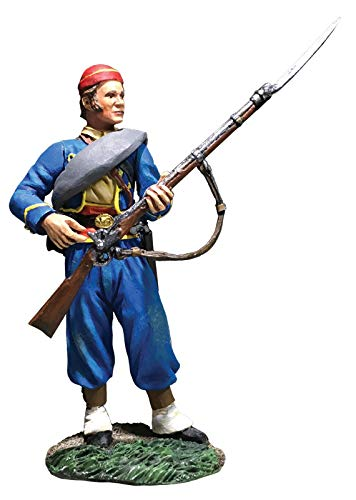 W.Britains American Civil War 31297 146th New York Federal Zouave Standing Reaching for Cap 1:30 Scale Pewter