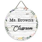 rfy9u7 Personalized Rustic Name Sign Door Hanger, Classroom Door Sign, Teacher Door Hanger, Back to School Door Sign, Classroom Decor, Teacher Gift, 12inch