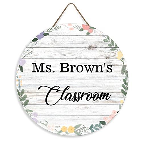 teacher sign for doors rfy9u7 Personalized Rustic Name Sign Door Hanger, Classroom Door Sign, Teacher Door Hanger, Back to School Door Sign, Classroom Decor, Teacher Gift, 12inch
