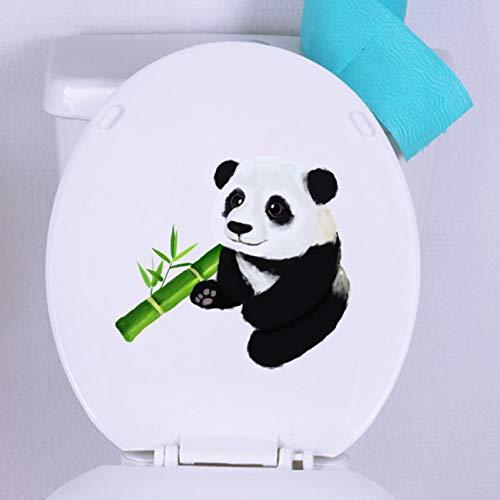 TAOYUE 23,7X21,3 Cm Art Panda Inodoro Pegatina De Pared Para Sala De Estar Decoración Del Hogar