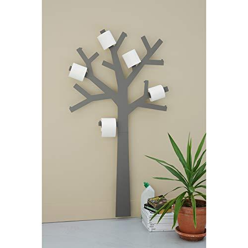 Décoration et Accessoires + Presse Citron - Porte papier toilette en forme d'arbre - PQtier - Gris