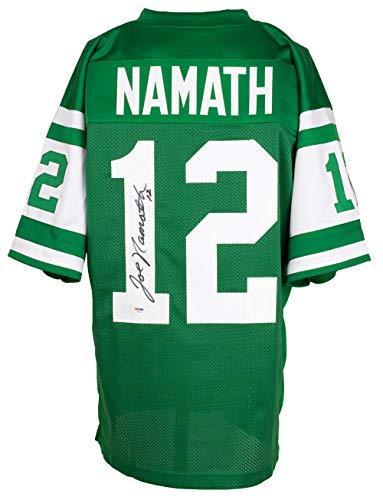 Joe Namath Autographed Signed Custom Green Pro Style Football Jersey PSA/DNA Hologram