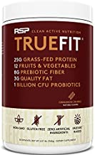RSP TrueFit - Grass Fed Lean Meal Replacement Protein Shake, All Natural Whey Protein Powder with Fiber & Probiotics, Non-GMO, Gluten-Free & No Artificial Sweeteners, 2LB Churro (Packaging May Vary)