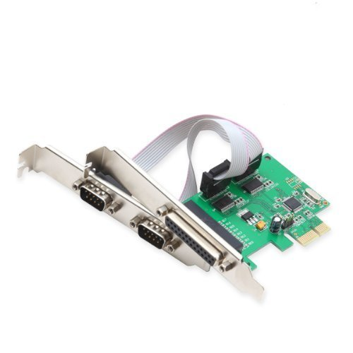 Portable, Syba DB9 2 Port Serial and 1 Port Db25 Parallel PCI-Express x1 Card with Low Profile Brackets SI-PEX50054 Consumer Electronic Gadget Shop