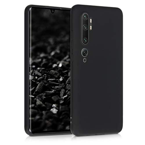 kwmobile Funda Compatible con Xiaomi Mi Note 10 / Note 10 Pro - Carcasa de TPU Silicona - Protector Trasero en Negro Mate