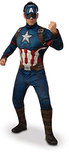 Rubie's Men's Marvel: Avengers Endgame Deluxe Captain America Costume and Mask, Color As Shown, Standard