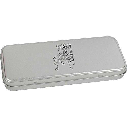 Azeeda 180mm x 75mm 'Chaise Vintage' boîte de Papeterie métal (TT00038599)
