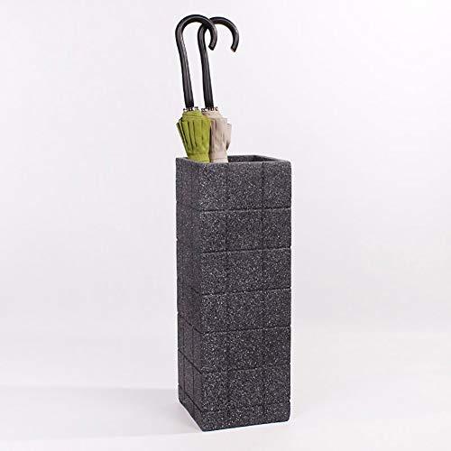 DYB Innenschirmhalter, Regenschirmständer Innenhalter Beistelltisch Kunststoffprüfer, quadratisch, 20 * 20 * 56 cm (Farbe: SCHWARZ)
