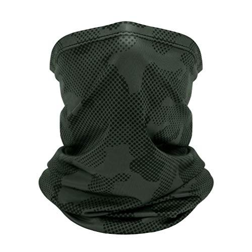 VBIGER Multifunktionstuch Herren/Damen UV Schutz kühl Halstuch Schnelltrocknend Atmungsaktiv Hochela (Grau-Schwarze Tarnung)