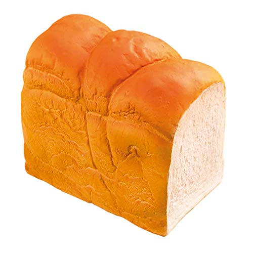 iBloom Pain du Matin Realistic Bread Loaf Slow Rising Jumbo Squishy Toy (Bread Scented) for Party Favors, Stress Balls, Birthday Gifts, Kawaii Squishies Pretend Play for Kids, Girls, Boys, Adults